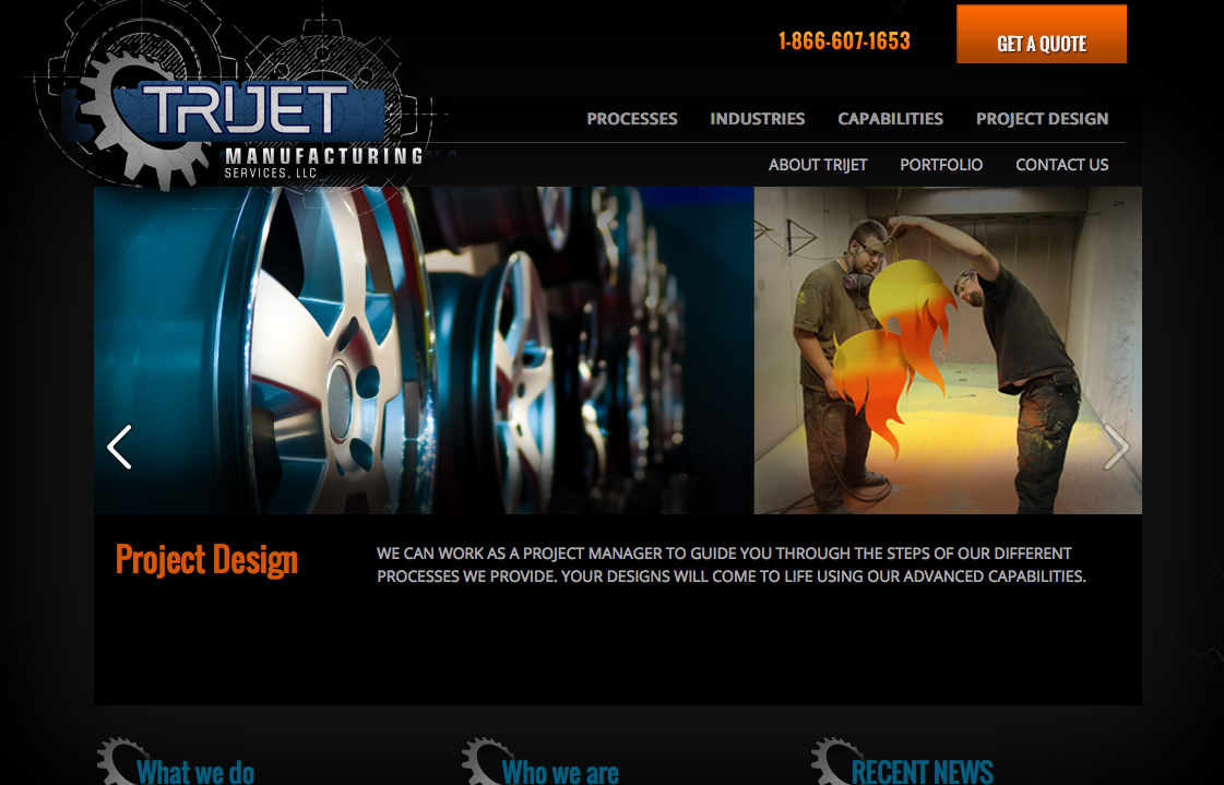 TriJet Precision Web & Mobile Sites